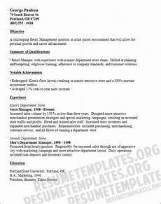 resume exles for retail store manager retail manager resume template retail resume