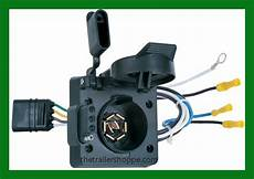 multi tow 7 way rv 4 way flat vehicle adaptor plug hopkins 47185 ebay