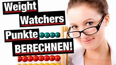 die weight watchers punkte berechnen