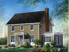 two and a half story colonial house plan 80606pm architectural designs house plans