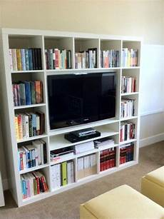 tv regal ikea the ikea expedit shelf 40 samsung tv hack bookshelves