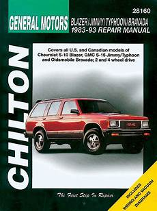 auto repair manual online 1993 gmc 2500 club coupe navigation system chevy blazer gmc jimmy typhoon oldsmobile bravada chilton manual 1982 1993 hay28160