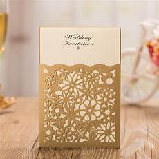 gold laser cut wedding invitation cards 2015 elegant wedding invitations wedding supplies