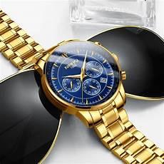 nibosi gold mens watches top brand luxury sport
