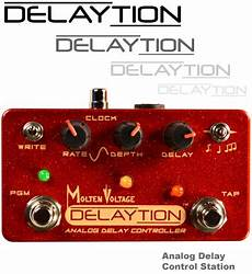 delay pedal with presets delaytion analog delay station for mxr carbon copy and malekko ekko 616 by