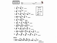 music math addition worksheet note value assessment great for substitutes