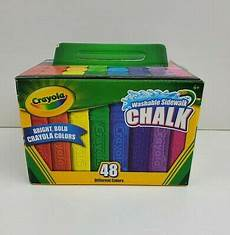 Amazon Com Washable Sidewalk Chalk 48 Assorted Bright Crayola Washable Sidewalk Chalk 48 Count Assorted Colors