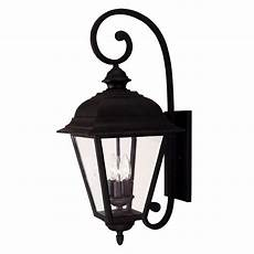 illumine 3 light outdoor textured black wall lantern with clear beveled glass cli