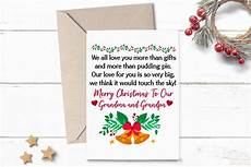 printable christmas card greeting for grandma grandpa