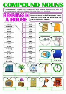 compound nouns furnishings in a house worksheet free esl printable worksheets made by teachers