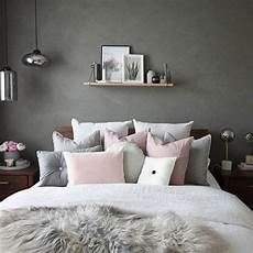 This Beautiful Grey And Pink Bedroom Image Decoride
