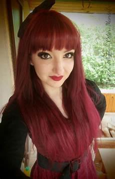 couleur cheveux violet foncé coloration cheveux quot rubine quot directions color mania