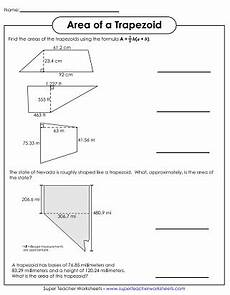 area of parallelograms trapezoids worksheets