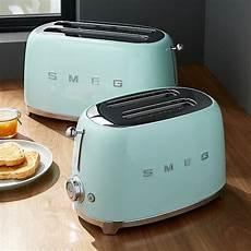 smeg toaster günstig smeg mint green retro toasters crate and barrel