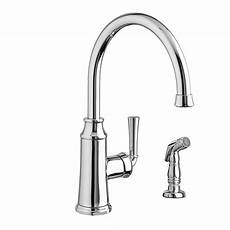 american standard kitchen sink faucet american standard portsmouth high arc single handle standard kitchen faucet with side sprayer in