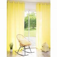 rideau 224 œillets en lav 233 jaune 110 x 250 cm maisons
