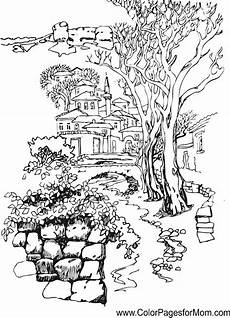 landscape coloring pages for adults coloring home