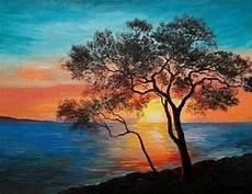 Contoh Lukisan Pemandangan Yang Mudah Ditiru Bagus