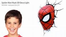 3d light fx marvel spider man 3d deco led wall light