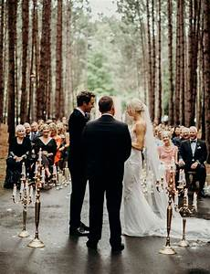 These Two Got Married On A Tree Lined Road In The Middle Of The Forest