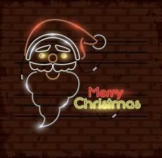 merry christmas card neon lights premium vector