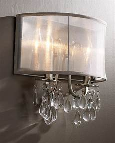 hton polished chrome crystal wall sconce with silver