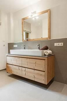 badezimmer holz waschtisch badm 246 bel in fichte altholz bad in 2019 badezimmer