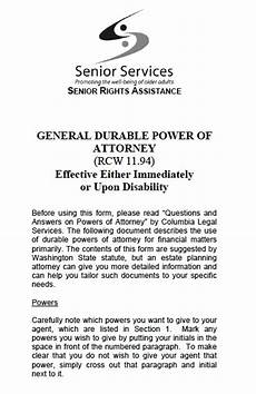 free washington state power of attorney forms and templates