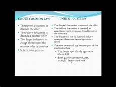 contracts video 4 battle of the forms and ucc 2 207 youtube