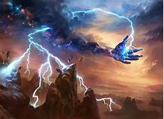 mtg art lightning strike from theros by adam paquette art of magic the gathering