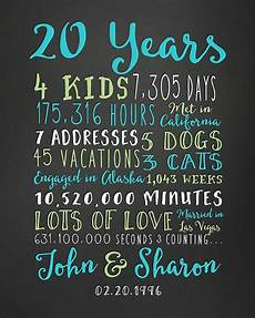 20th anniversary gift 20 year wedding by wanderingfables