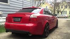 audi b6 s4 awe exhaust and catless downpipes youtube
