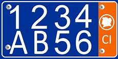 Vehicle Registration Plates Of Ivory Coast