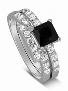 luxurious 1 50 carat princess cut black and white diamond