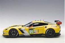 Highly Detailed Autoart Yellow Chevrolet Corvette C7r