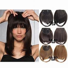 clip in fringe blunt bangs cute and easy hairstyles for