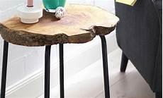tisch mit baumscheibe basteln basteln selbst de
