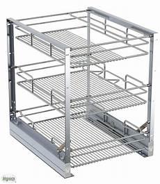 Küchenschrank Mit Auszug - k 252 che schrankauszug 3 k 246 rbe runddraht chrom