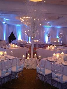 winter wonderland 12 tall winter trees served as the centerpiece for 4 tables the tables then