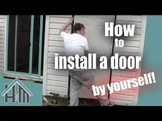 how to install an exterior door pre hung steel replace a door the home mender youtube