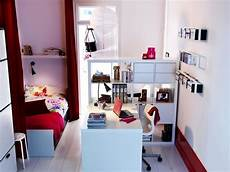 Schreibtisch Kleines Zimmer - kleines zimmer einrichten kinderzimmer weiss rot