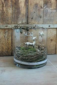Weihnachten Deko Objekte Reh Im Glas Ein
