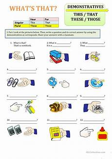 grammar worksheets this that these those 24996 demonstratives this that those these worksheet free esl printable worksheets made by teachers