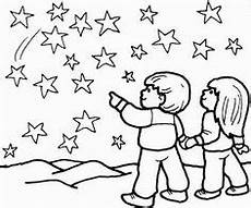 Malvorlagen Sternenhimmel In The Sky Coloring Page Arts Crafts