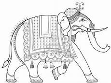 stock photo indian elephant elephant kalamkari