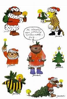 janosch stickerpostkarte weihnachten aufkleber tiger b 228 r