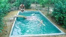 Build Swimming Pool Around Underground House Part5