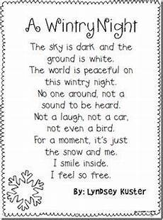 winter poems for to learn search