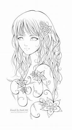 Anime Malvorlagen Gratis Anime M 228 Dchen Zeichnung Fablos Blumen