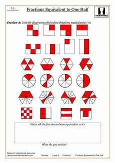 fraction worksheets half 3953 equivalent fractions by cazoommaths teaching resources tes